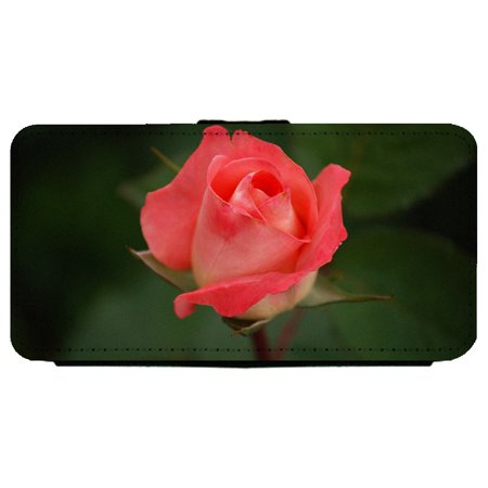Close-Up Of Pink Rose Flower Apple iPhone 6 / 6S (4.7 inch) Leather Flip Phone Case