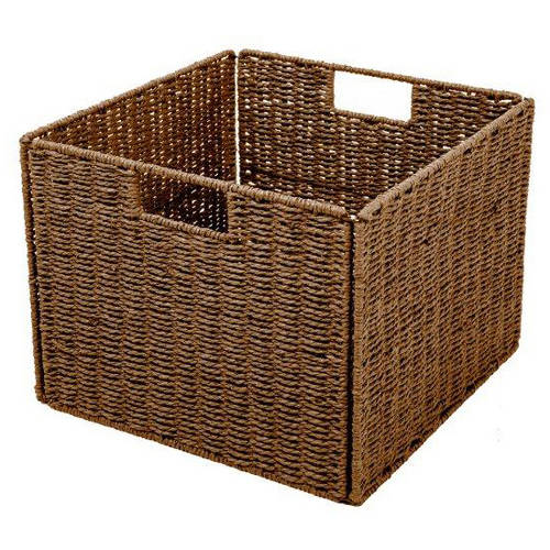 Trademark Innovations Foldable Storage Basket with Iron Wire Frame