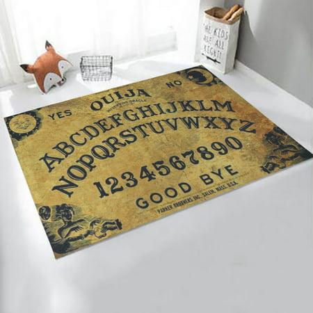 75x45cm Ouija Board Spirit Magick Non Slip Indoor Outdoor Door Mat Rugs (Louis Rams Spirit Rug)