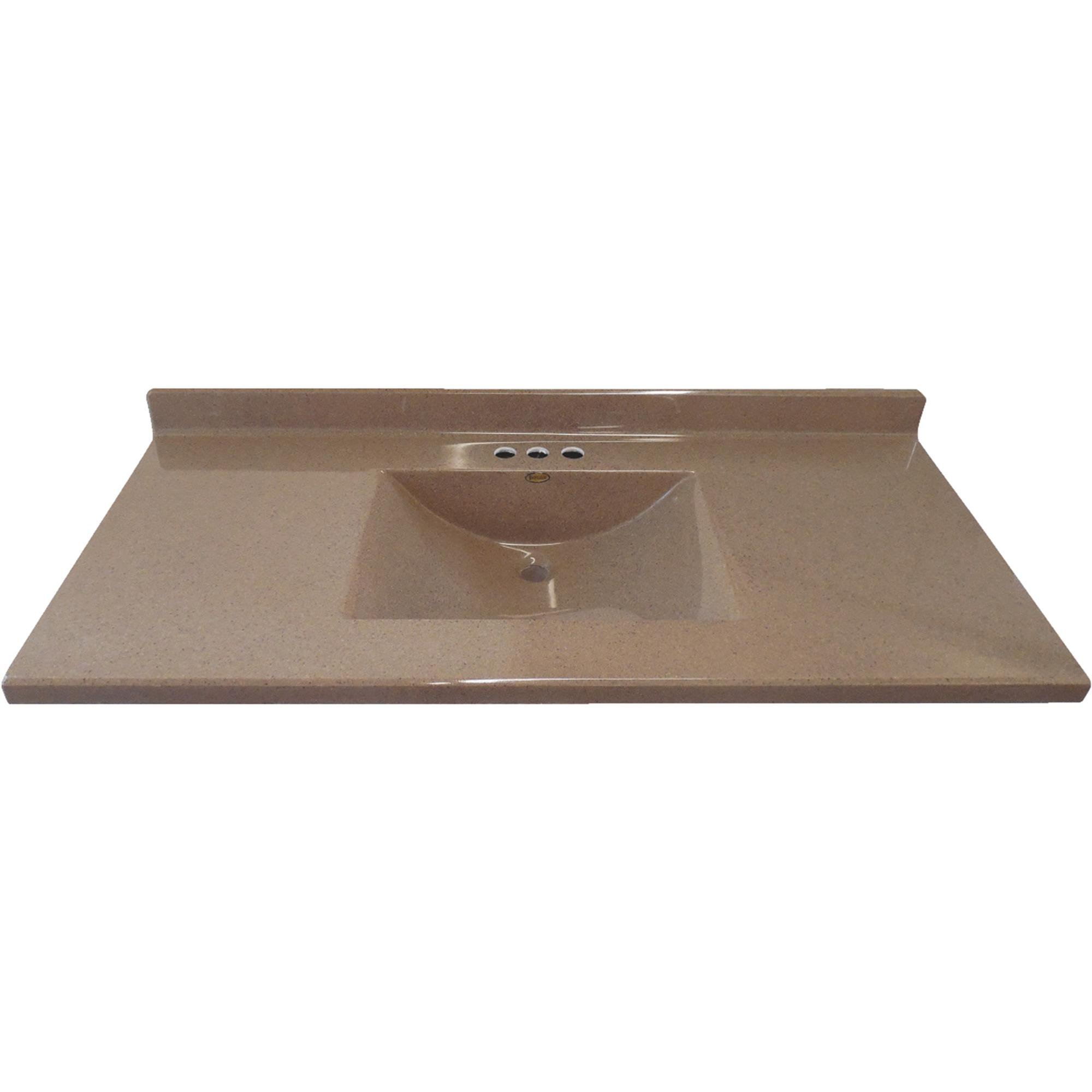 Worldwide Sourcing Imperial Coco Satin Stone Vanity Top