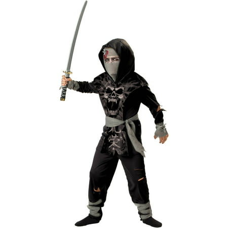 Dark Zombie Ninja Child Halloween Costume - Football Zombie Halloween Costume