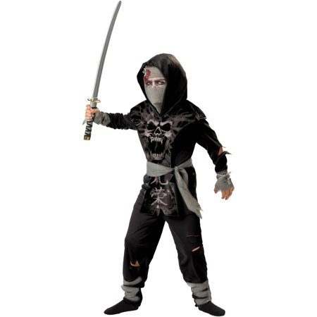 Dark Zombie Ninja Child Halloween - Make Your Own Zombie Halloween Costume