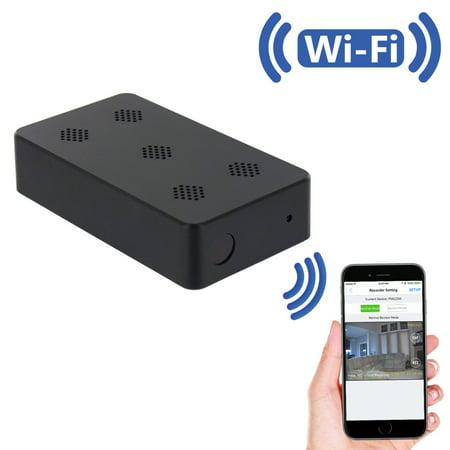 (SpygearGadgets 1080P HD WiFi Pro Grade Mini Black Box Hidden Camera Nanny Cam with Night Vision - Model HC455w)