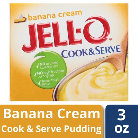 Banana Pudding Pie ((3 Pack) Jell-O Cook & Serve Banana Cream Pudding & Pie Filling, 3 oz Box)