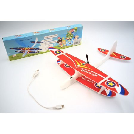 DENTT Foam Glider Plane with Electric Motor for Kids Outdoor Throwing and Flying Model Airplanes Kits to Build a Engineering Stem Toy Airplane (Electric Airplane Glider)