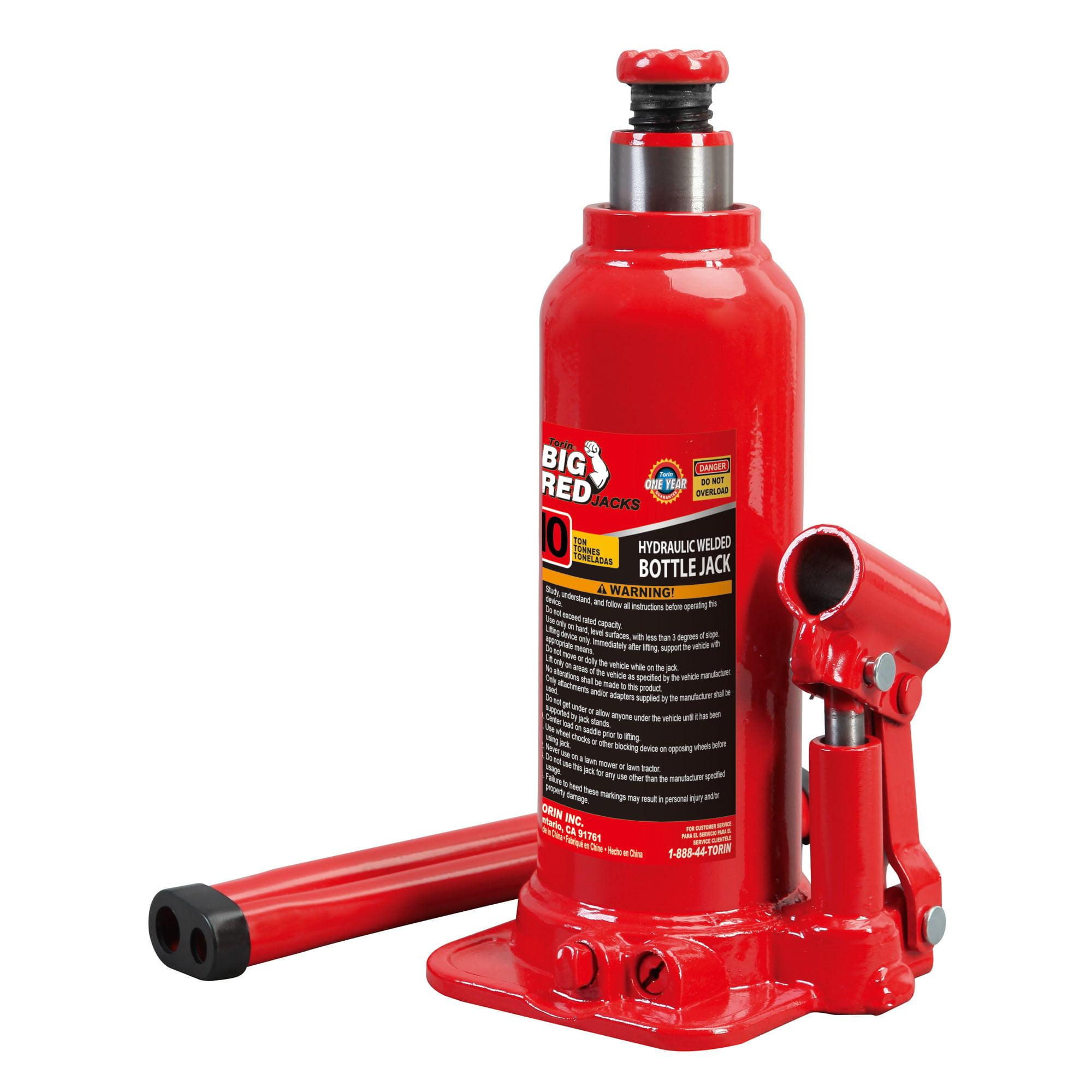 Torin Big Red T91003B 10 Ton Hydraulic Welded Auto Mechanic Bottle Jack Lift