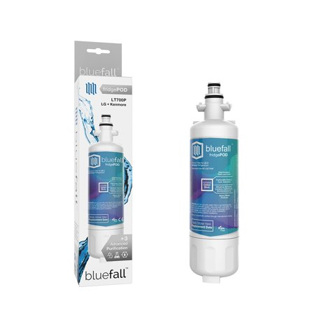 LG LT700P Refrigerator Water Filter. Compatible Replacement Refrigerator Water Filter for LG LT700P by Bluefall - VALUE PACK 2 Refrigerator Water Filter. LG Water Filter for LG LT700P Compatible Replacement Refrigerator Water Filter by Bluefall . Enjoy delicious filtered water for your refrigerator water filter, using Bluefall upgraded technology. The perfect fit Guaranteed.