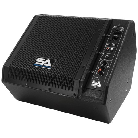 Seismic Audio Powered Compact 10 Inch 2 Way Coaxial Floor / Stage Monitor with Titanium Horn -
