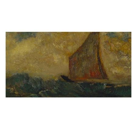 The Mystical Boat; La Barque Mystique Print Wall Art By Odilon (Red Mystique Art)