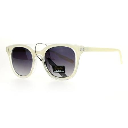 Giselle Womens Unique Two Tone Horn Rim Horned Sunglasses (Unique Sunglasses)