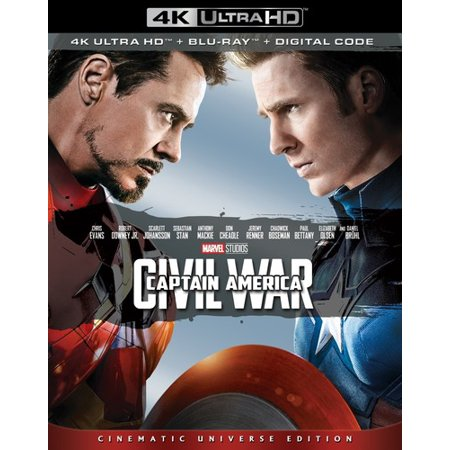 Captain America: Civil War (4K Ultra HD + Blu-ray + (National Museum Of The Civil War Soldier)