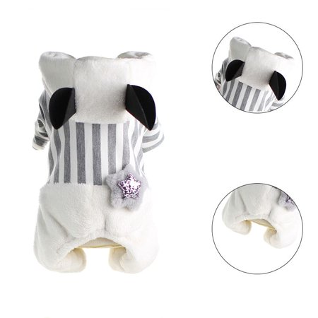 Warm Weather Halloween Costumes Toddlers (4-legged Cold-weather Warm Pet Clothes Thickening Costume Dog Jumpsuit Hooded With Star)