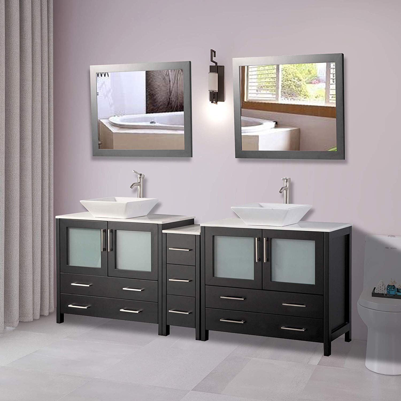Vanity Art 84 Quot Double Sink Bathroom Vanity Combo Set Solid