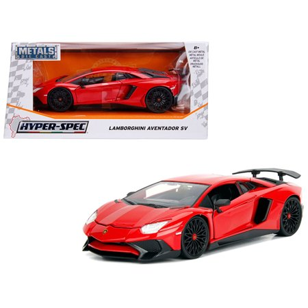 Lamborghini Aventador SV Gloss Red 1/24 Diecast Model Car by Jada ()