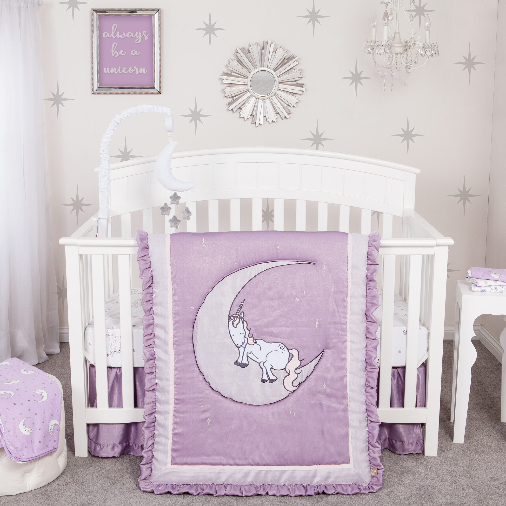 Unicorn Dreams 3 Piece Crib Bedding Set Walmart Com