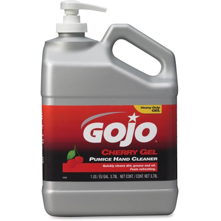 Gojo, GOJ235802, Gallon Pump Cherry Gel Pumice Hand Cleaner, 1 Each, Red, 1 gal (3.8 L)