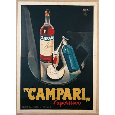 Poster Advertising Campari Laperitivo Canvas Art     18 X 24