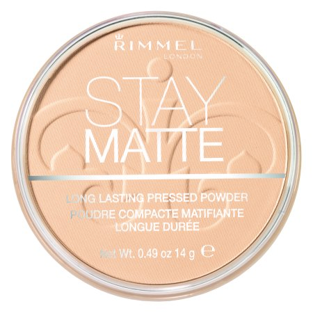 Rimmel Stay Matte Pressed Powder, Transparent (Setting Powder For Halloween Makeup)