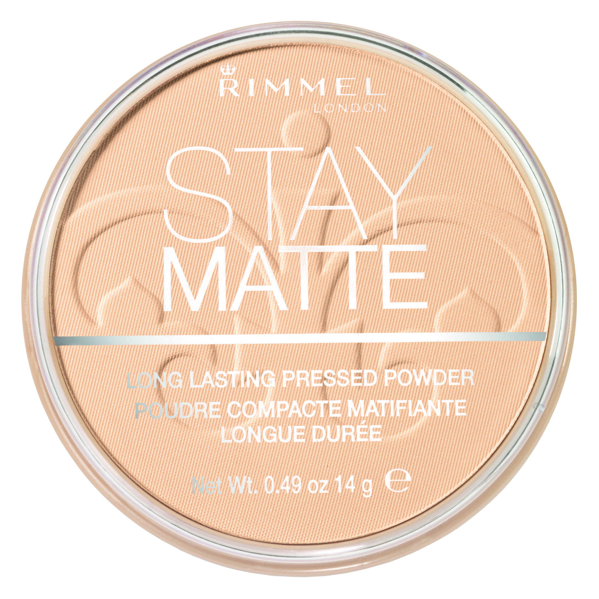Rimmel Stay Matte Pressed Powder, Transparent 001, .49 oz (14 g)