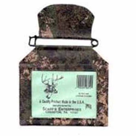 Fishing License Holder - Scaff Camouflage Vinyl License Holder with Rustproof Pin