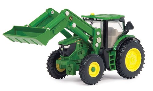Ertl John Deere 6210R Toy Tractor with Front Loader, 1:64 Scale Multi-Colored by John Deere