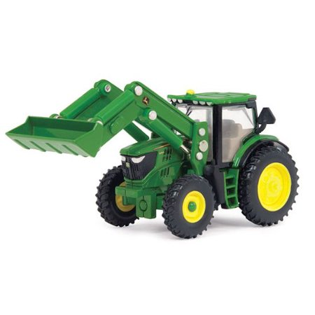 Ertl John Deere 6210R Toy Tractor with Front Loader, 1:64 Scale -