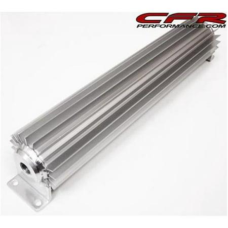 CFR HZ-0051-1 15 in. Finned Aluminum Dual Line Transmission Cooler - Chevy & Ford, Mopar Aluminum Finned Transmission Cooler