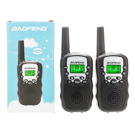 Set of 2 Baofeng Walkie Talkies T-388 Handheld Walky-Talky with Flashlight, 3 Miles Range for Parents Kids 2-Way-Radio with Mic PTT Clip Long Range for Baby Teen Boy Girl Him Family as Gifts
