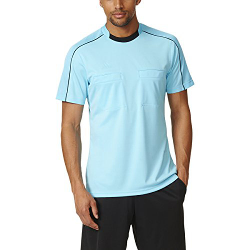 Adidas Referee 16 Mens SS Soccer Jersey 2XL Blue Glow-Bla...