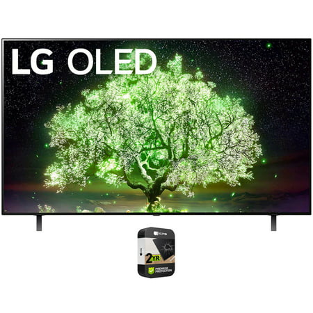 LG OLED55A1PUA 55 Inch A1 Series 4K HDR Smart TV With AI ThinQ 2021 Bundle with Premium 2 Year Extended Protection Plan