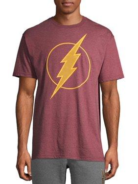 Men's Dc Comics Flash Classic Lightning Strikes Bolt Logo Graphic T-shirt