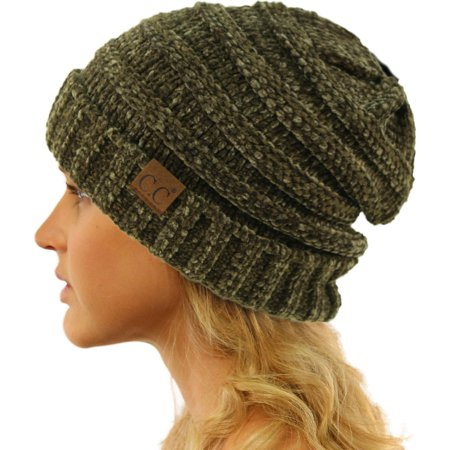 CC Winter Trendy Warm Oversized Chunky Baggy Stretchy Slouchy Skully Beanie Hat](Camel Hat)