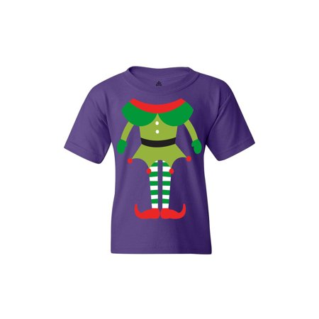 Shop4Ever Youth Elf Body Costume Funny Christmas Merry Xmas Graphic Youth T-Shirt