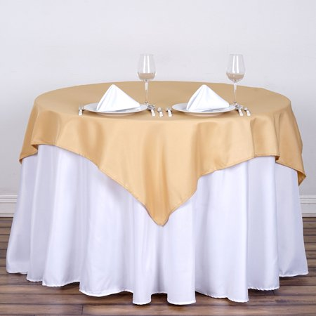 BalsaCircle 6 pcs 54x54-Inch Square Polyester Tablecloths Table Cover Linens for Wedding Party Catering Kitchen Dining Events