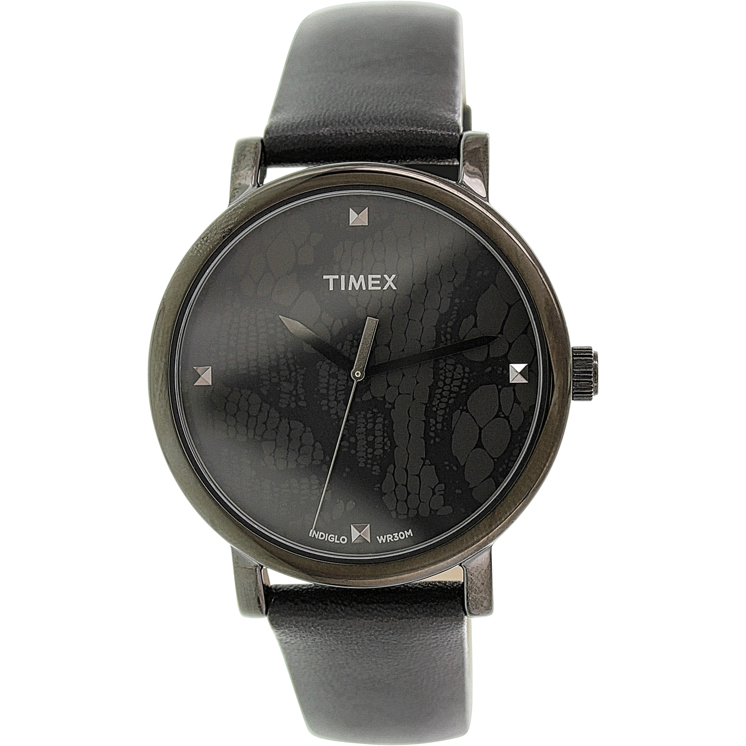 Timex Women's Originals T2P461 Black Leather Analog Quartz Fashion Watch