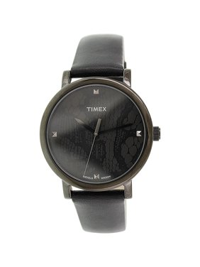 18ef2d2a0 Product Image Timex Women's Originals T2P461 Black Leather Analog Quartz  Fashion Watch