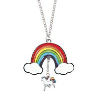 Fun Express - Unicorn Rainbow Necklace for Party - Jewelry - Necklaces - Necklaces - Novelty - Party - 12 Pieces