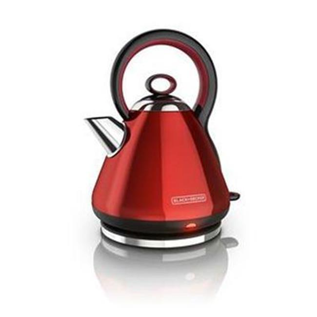 Black Decker Electric Kettle, Red - Stainless Steel