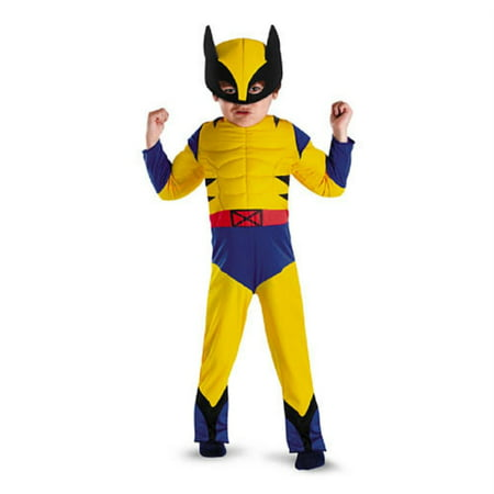 Boys Muscle Costume (Marvel Comics Toddler &  Boys Wolverine Muscle Costume with Mask)