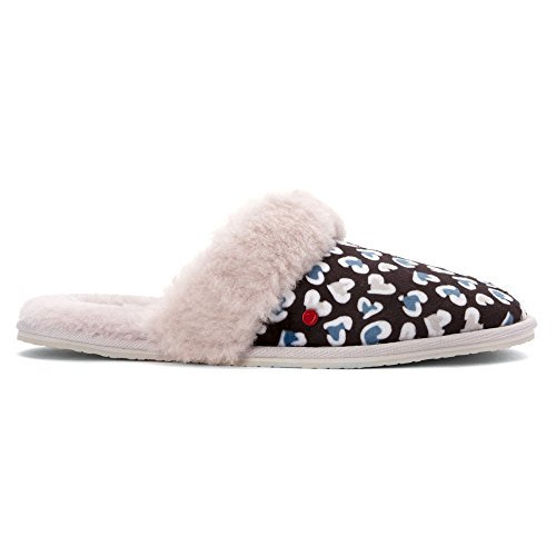 3a5fd9631ea UGG Australia Girls I Heart Finn Cheetah Slippers, Black, XS