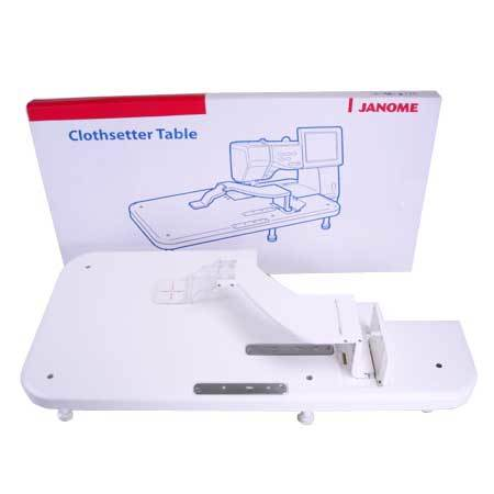 Janome Memory Craft 11000 Clothsetter & Table