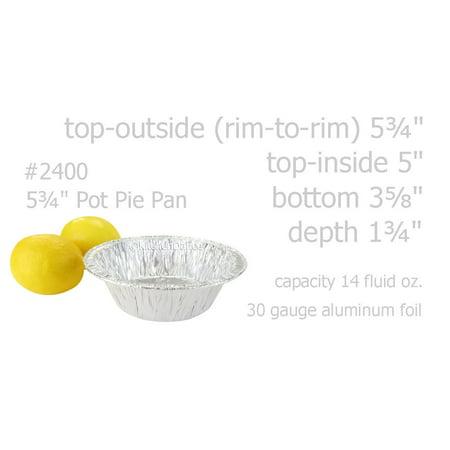 """5¾"""" Aluminum Foil Pot Pie Pan - Extra Deep - #2400"""