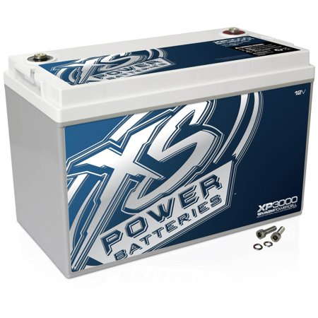XS Power XP Series 12V BCI Group 31 AGM Car Battery with Terminal Bolt XP3000
