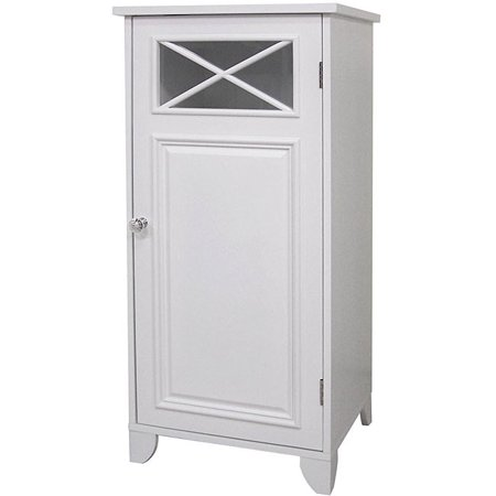 this virgo floor cabinet is a charming accent to your bathroom