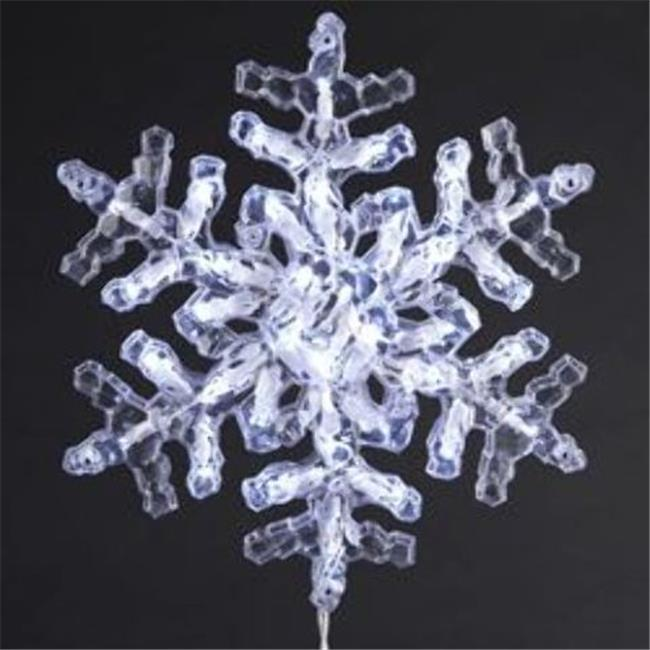 Kurtadler 1915535 35 Light One Piece Clear Crystal Snowflake - Case of 24
