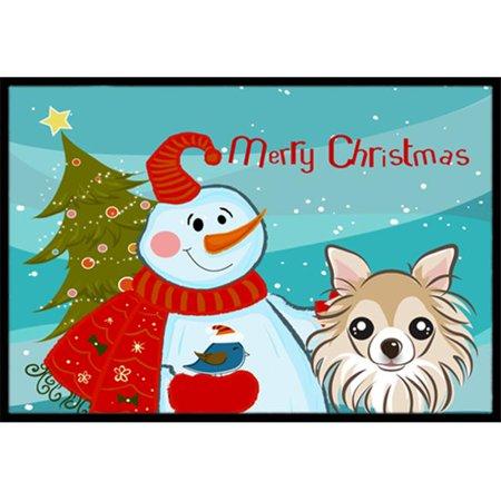 Carolines Treasures BB1871JMAT Snowman With Chihuahua Indoor & Outdoor Mat, 24 x 36 in. - image 1 de 1
