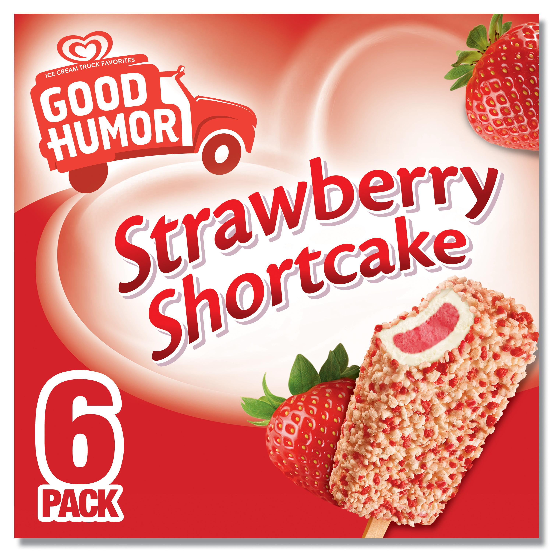 Good Humor Ice Cream & Frozen Desserts Strawberry Shortcake Bar, 6 ct
