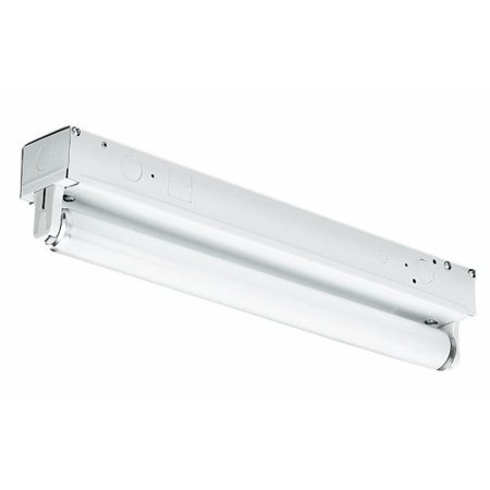 - FS132-EB One-Light Fluorescent Strip Light, White, 2-9/16-Inch W by 3-7/8-Inch H by 48-Inch L By Thomas Lighting Ship from US