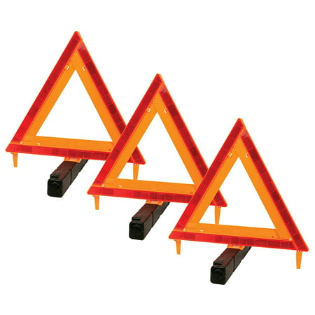 Auto Warning Triangle - Performance Tool W1498 DOT Warning Triangle 3 pack