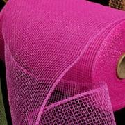 """Fuchsia Pink Deco Mesh Craft Ribbon 6.5"""" x 120 Yards"""